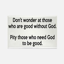 Good Without God Atheism Rectangle Magnet