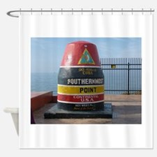 Southernmost point U.S.A. Shower Curtain