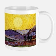Van Gogh Sunrise over Field Mugs