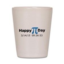 Happy Pi Day (full date & time) Shot Glass