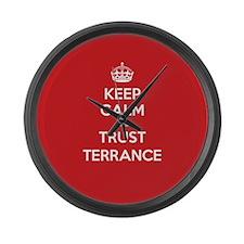 Trust Terrance Large Wall Clock