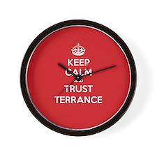 Trust Terrance Wall Clock