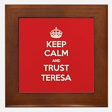 Trust Teresa Framed Tile