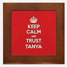 Trust Tanya Framed Tile