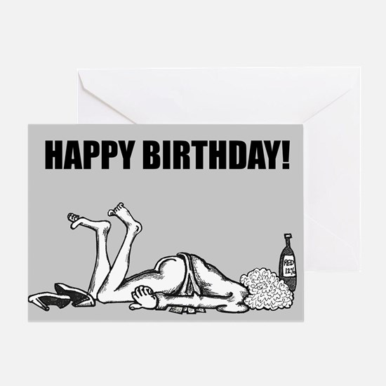 Birthday Face Down Greeting Cards