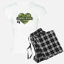 Camo Heart Army Wife Pajamas
