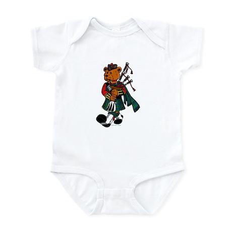 Jimmie the Scottish Piper Bear Infant Bodysuit