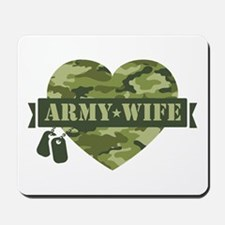 Camo Heart Army Wife Mousepad