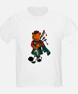 Jimmie the Scottish Piper Bear T-Shirt