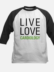 Live Love Cardiology Kids Baseball Jersey