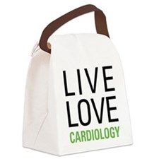 Live Love Cardiology Canvas Lunch Bag