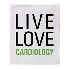 Live Love Cardiology Throw Blanket
