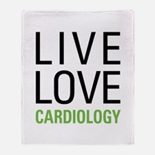 Live Love Cardiology Throw Blanket