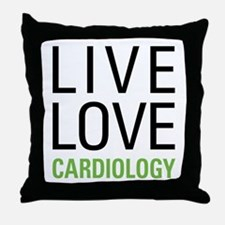 Live Love Cardiology Throw Pillow