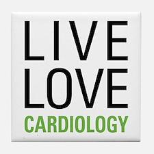 Live Love Cardiology Tile Coaster