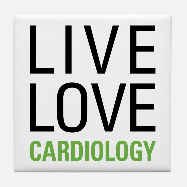 Live Love Cardiology Tile Coaster