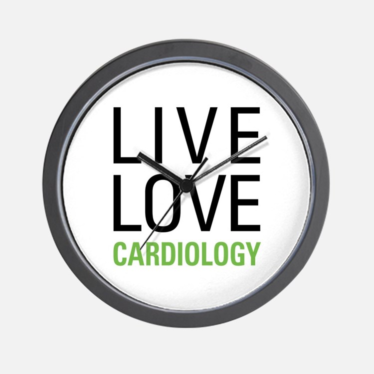Live Love Cardiology Wall Clock