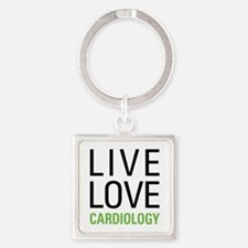 Live Love Cardiology Square Keychain