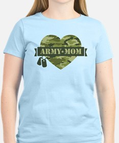 Camo Heart Army Mom T-Shirt