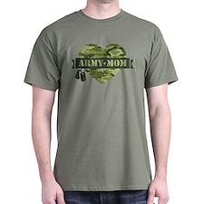 Camo Heart Army Mom T-Shirt