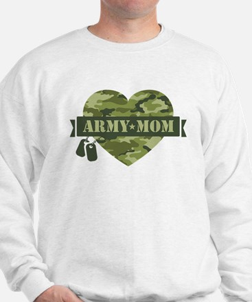 Camo Heart Army Mom Sweatshirt