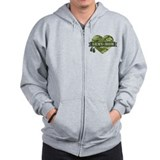 Army mom Zip Hoodies