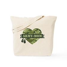 Camo Heart Army Mom Tote Bag