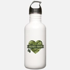 Camo Heart Army Mom Water Bottle