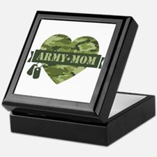 Camo Heart Army Mom Keepsake Box
