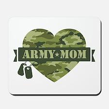 Camo Heart Army Mom Mousepad