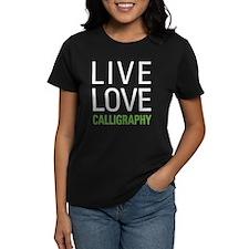Live Love Calligraphy Tee