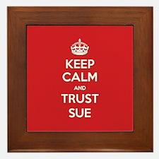 Trust Sue Framed Tile