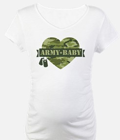 Camo Heart Army Baby Shirt