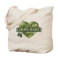 Camo Heart Army Baby Tote Bag
