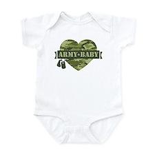 Camo Heart Army Baby Infant Bodysuit