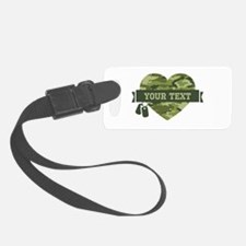 PD Army Camo Heart Luggage Tag