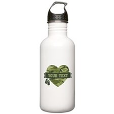 PD Army Camo Heart Water Bottle