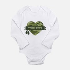 PD Army Camo Heart Onesie Romper Suit