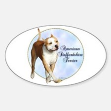 AmStaff Portrait Oval Decal