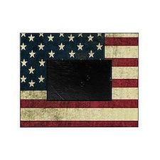 Vintage U.S. Flag Picture Frame