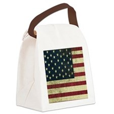 Vintage U.S. Flag Canvas Lunch Bag