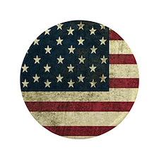 """Vintage U.S. Flag 3.5"""" Button"""