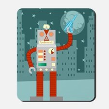 Raygun Robot Alien Invasion Mousepad