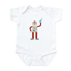 Raygun Robot Alien Invasion Infant Bodysuit