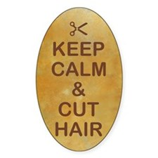 KEEP CALM & CUT HAIR Decal