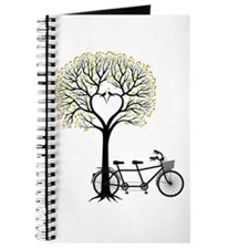 Heart tree with birds and tandem bicycle Journal