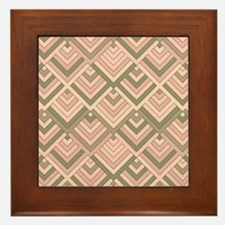 shaped memory of the 60s peach Framed Tile