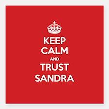 "Trust Sandra Square Car Magnet 3"" x 3"""