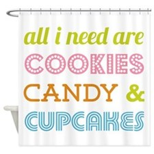 Cookies Candy Shower Curtain