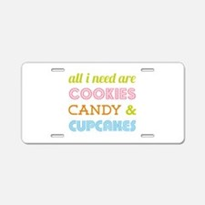 Cookies Candy Aluminum License Plate